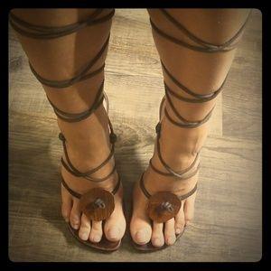 Gucci gladiator heels